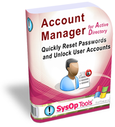 Account Manager software for Active Directory