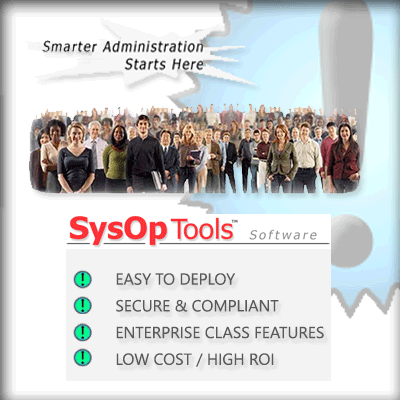 SysOp Tools Enterprise Software Password Reset PRO or Password Reminder PRO for Active Directory domains