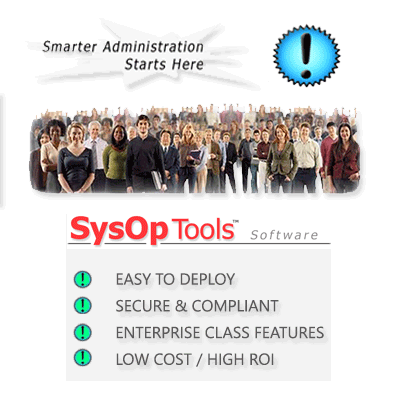 SysOp Tools audited user password management for help desk staff